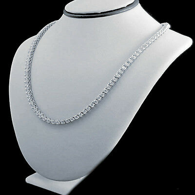 41d2a0366b8b6 MENS NEW 925 STERLING SILVER ICED OUT 1 ROW TENNIS CHAIN NECKLACE 30