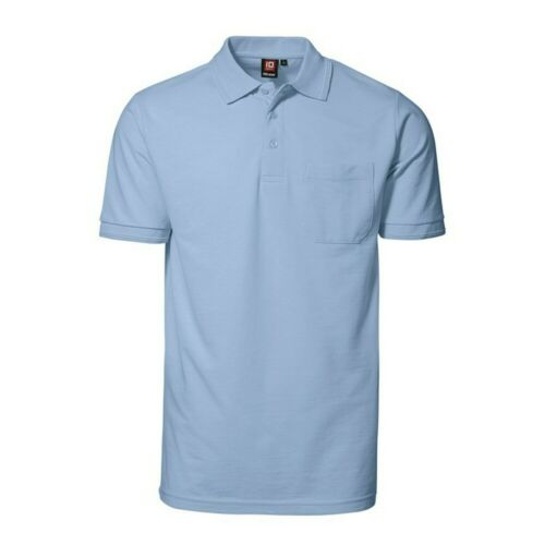 ID172 ID Mens Pro Wear Short Sleeve Plain Summer Polo Shirt With Pocket