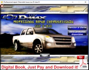 WORKSHOP MANUAL OR REPAIR MANUAL ISUZU / CHEVROLET LUV  D-MAX 2007 - 2012