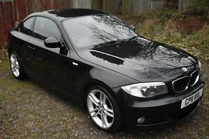 BMW 120i M sport coupe, 11 Plate (2011) Black