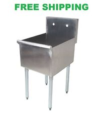 18 X 21 X 13 Stainless Steel Commercial Utility Sink Prep Wash Laundry Tub