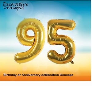 Image Is Loading Giant 95th Birthday Party 40 034 Foil Balloon