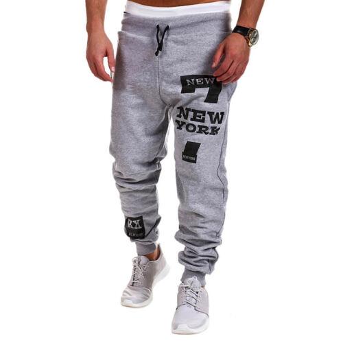 Men Joggers Sweat Pants Tracksuit Bottoms Gym Jogging Running Sport Trousers