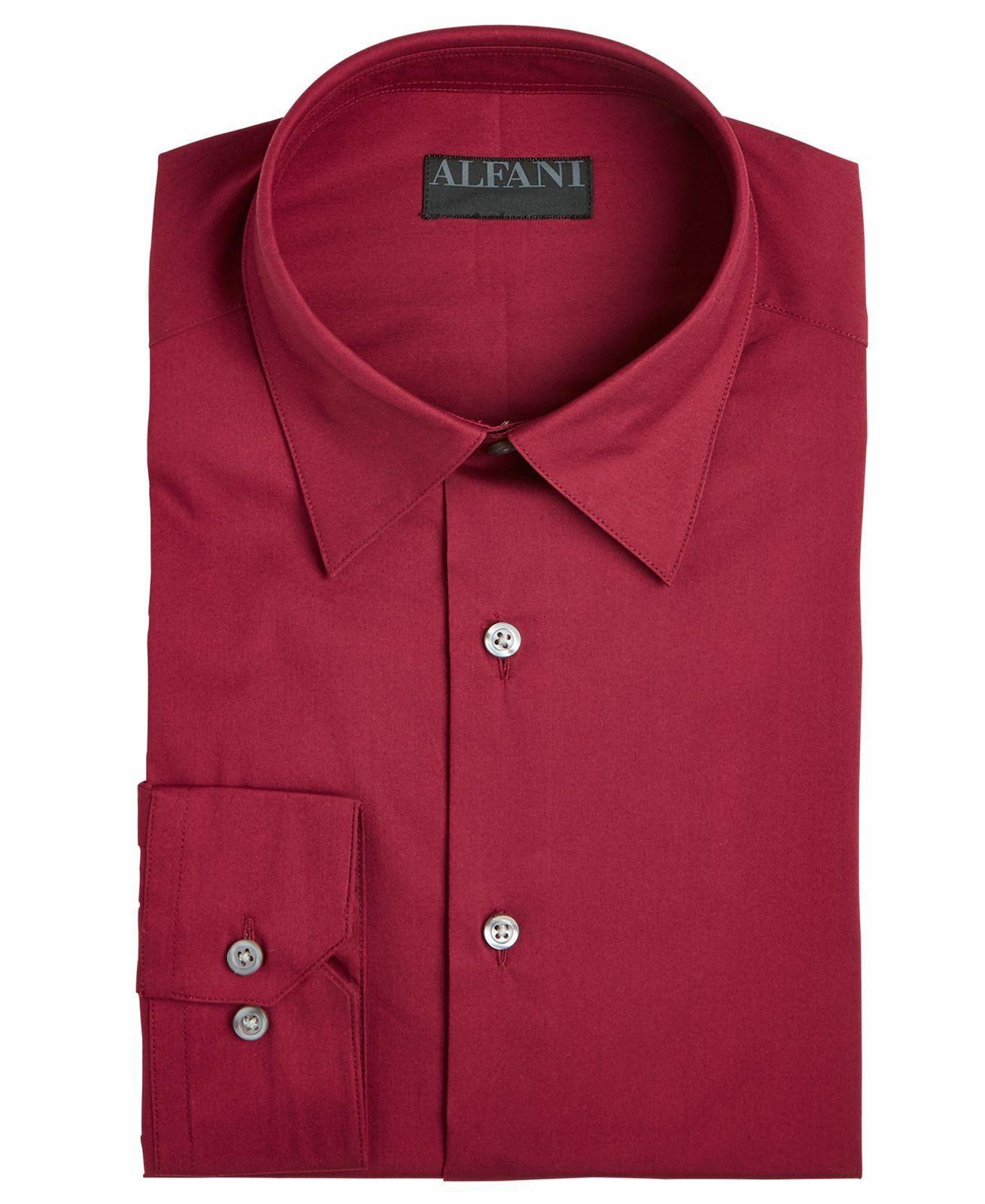 New Men/'s Alfani Short Sleeved Textured Dress Shirt Medium Black