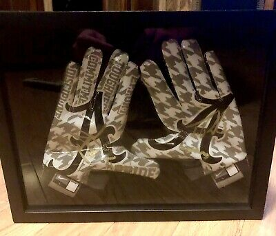 Alabama Nike Pro Combat Football Gloves Signed By Ingram And Richardson W Proof Ebay