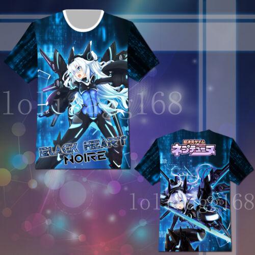 Hyperdimension Neptunia Noire Black Heart T-shirt Tee Top Cosplay Costume Gift
