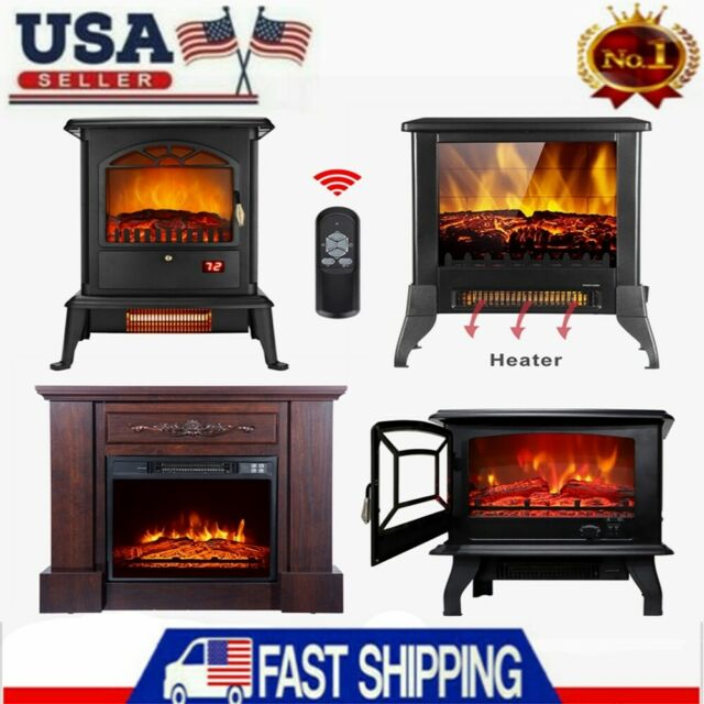 Homcom 31 1400w Freestanding Portable 3d Led Electric Fireplace Mantel Heater S For Sale Online Ebay