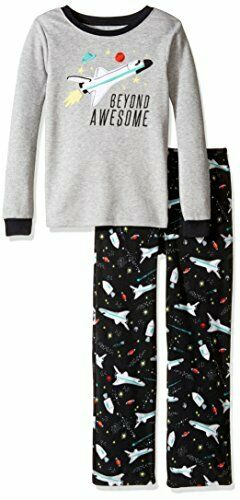 NWT FLEECECARTERS Boys SPACE SHIP Pajamas  New  BEYOND AWESOME  Size 2T $22