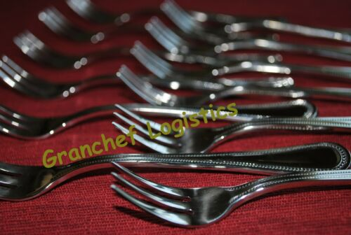 6 Piece Set  18//8 SS   ~  Pearl Pattern Oyster Cocktail Forks  ~ Brand New