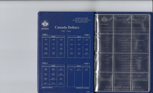 Unisafe Coin Folder Album #149 Canada Dollars Loonies 1987-Date