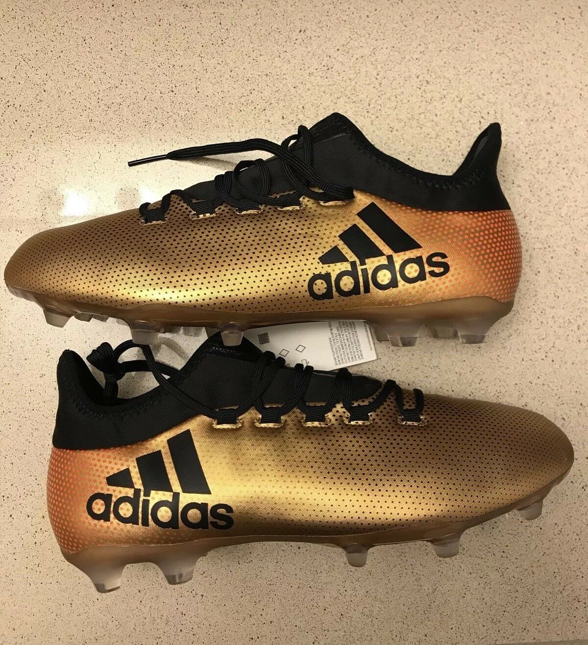 NEW Adidas X17.2 FAG gold BLACK SOCCER CLEATS (SIZE 10) () 5198ede0436e9