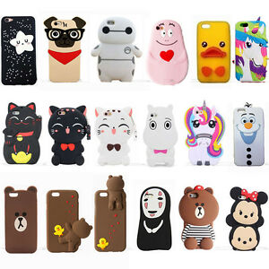 best website d6249 47530 Details about Cute 3D Anime Kawaii Soft Silicone Phone Case Cover Back Skin  Shell For iPhone
