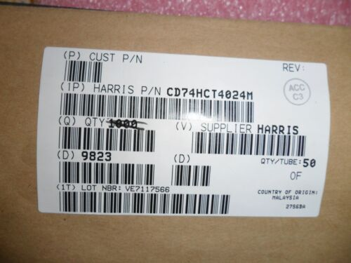 CD74HCT4024M IC 7 STAGE BINARY RIPPLE COUNTER CMOS 14-PIN SOIC 10 PER LOT
