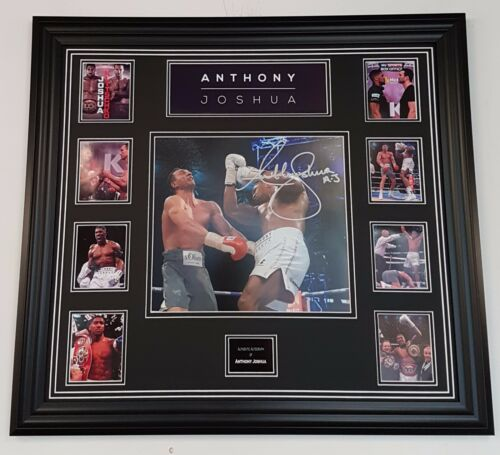 NEW ANTHONY JOSHUA SIGNED BOXING Photo Picture Autograph Display