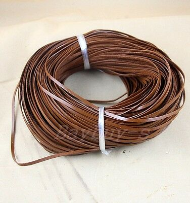 100% Real Flat Leather Cord 3MM*1MM String Lace Thong Jewellery Quality