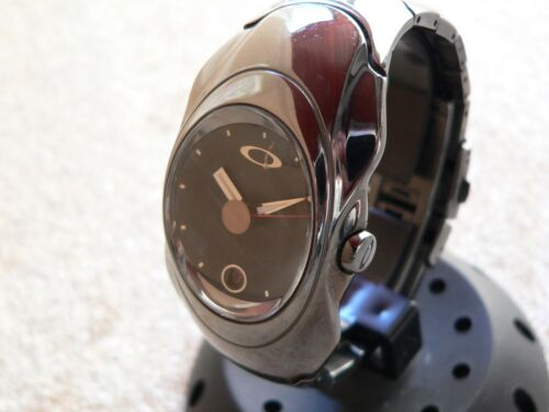 Oakley Timebomb Ion Plated Stainless Machine Time Tank Warrant Gmt Uhr Watch XX