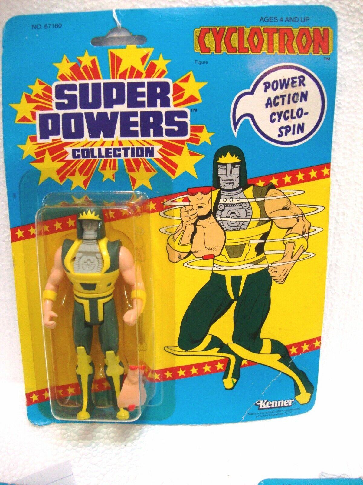 Súper poderes ciclotrón Kenner Figura de acción sellado Vintage 1985