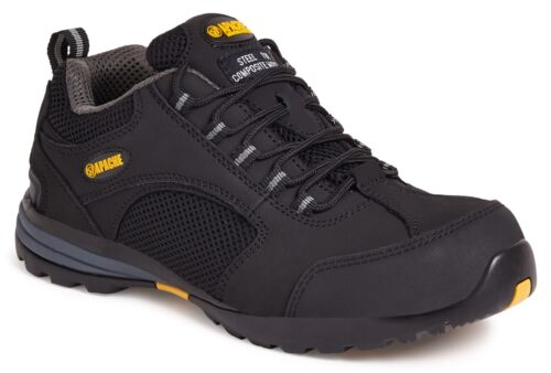 Apache AP318SM Black Low Profile Safety Steel Toe Capped Trainers AP318