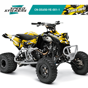 UNIQUE GRAPHICS KIT DECALS STICKERS CAN-AM DS450 ALL YEARS GIFT