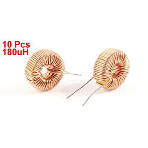 10 pcs Toroid Core Inductor Wire WInd Wound 180uH 190mOhm 1A Coil AD