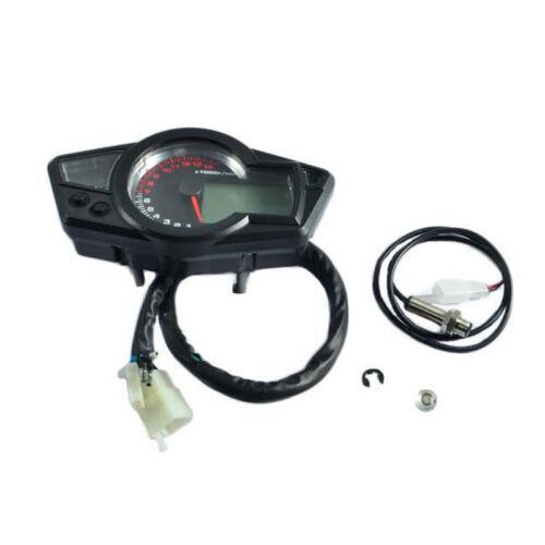Motorcycle 15000RPM LCD Digital Odometer Speedometer Tachometer Gauge 199km//h