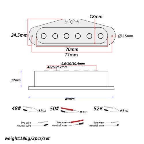 Middle //Bridge Tonabnehmer Pickup Humbucker für ST E-Gitarre 3 x Gitarre Hals