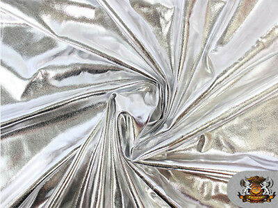 "Spandex Metallic SILVER Fabric /60""/ Sold by The Yard"