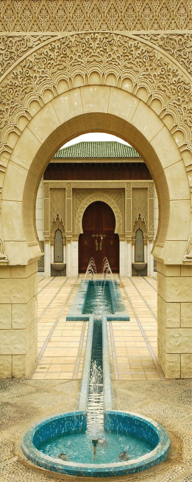 Aufkleber Tür Schrank Brunnen Orientalisch 90x240 Ref 405
