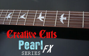 Flying Doves BLACK PEARL DOTBUSTER Fretmarker Dove Inlay Decal Maple Neck GUITAR
