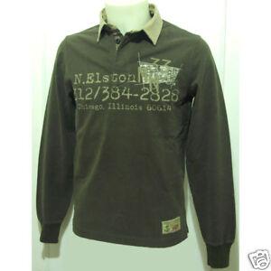 free shipping 66de2 77af1 Details about Murphy & Nye B Polo Shirt Long Sleeve Mens Size S Tan- show  original title
