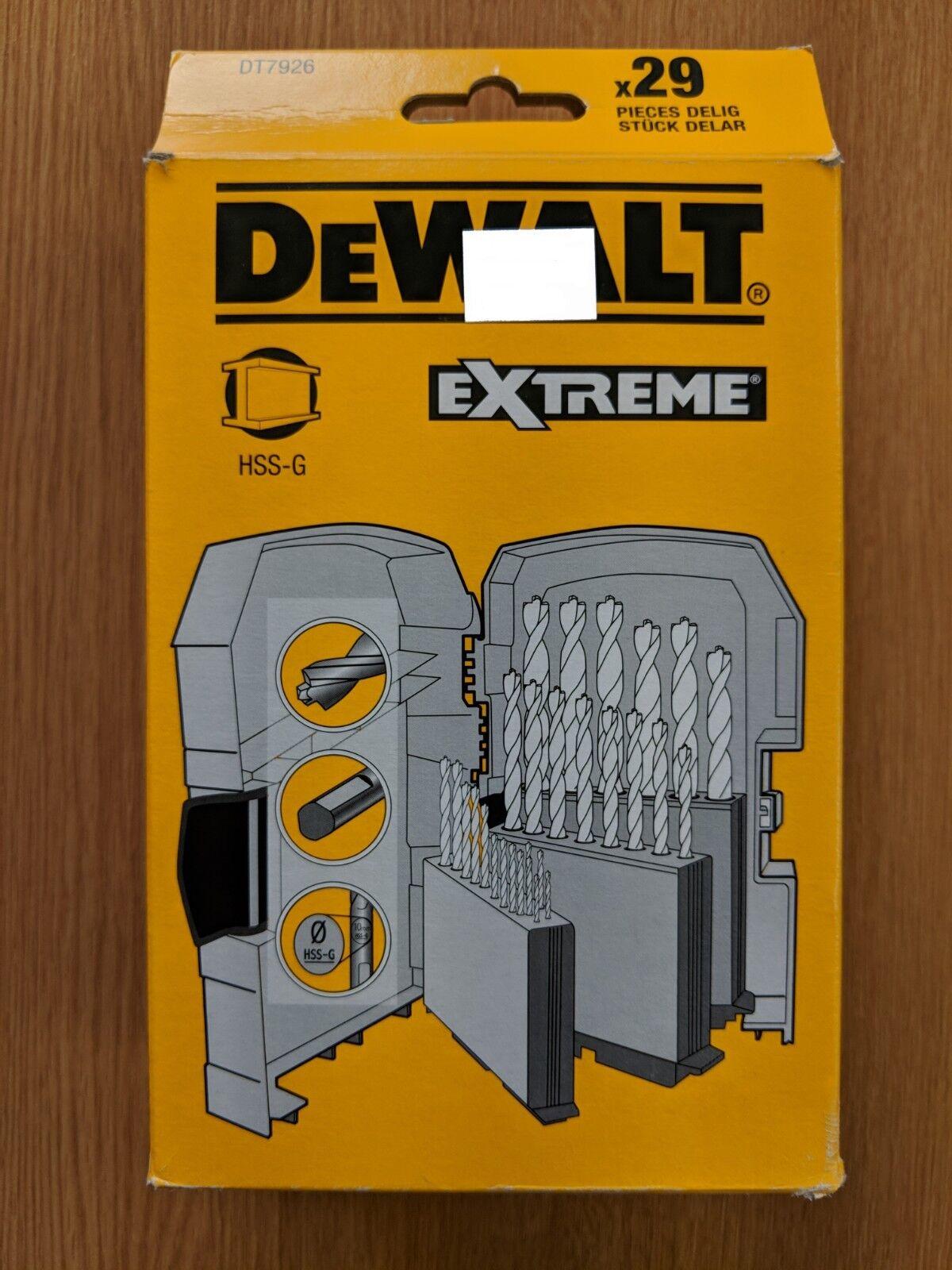 Dewalt DT7926-XJ 29pc Extreme HSS-G Drill Bit Set
