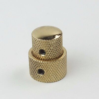 Concentric Stacked Metal Knob for Bass or Guitar w// Set Screw BLACK CHROME GOLD