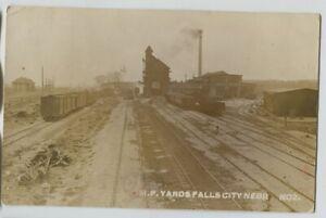 1911-Missouri-Pacific-Railroad-Falls-City-Nebraska-Real-Photo-Postcard-RPPC