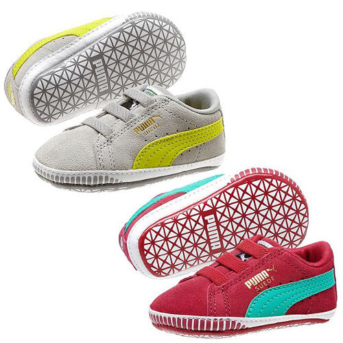 Puma Suede Crib Unisex Baby Kids Strap Up Walking Trainers Shoes 355965 DD