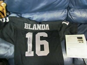 George Blanda Autographed Mitchell and Ness Jersey 1970 Throwback ...