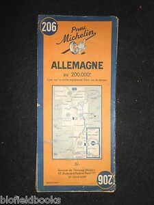 Michelin Map Of Germany.Details About Vintage C1949 French Michelin Map Of Germany Allemagne French Section Post Ww2