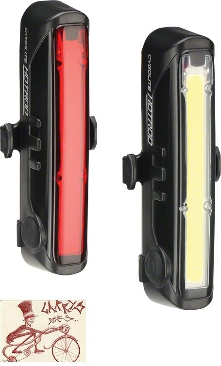CYGOLITE HOTROD 110 AND HOTROD 50 BICYCLE HEADLIGHT AND TAILLIGHT SET