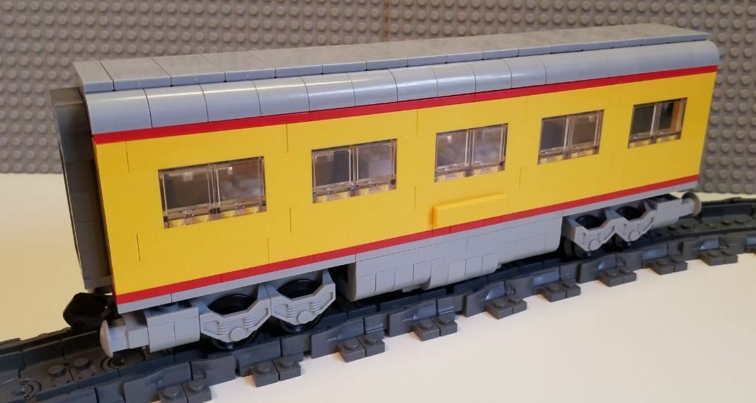 Lego Train Custom Union Pacific F7 Passenger Car - PLEASE READ ITEM DESCRIPTION