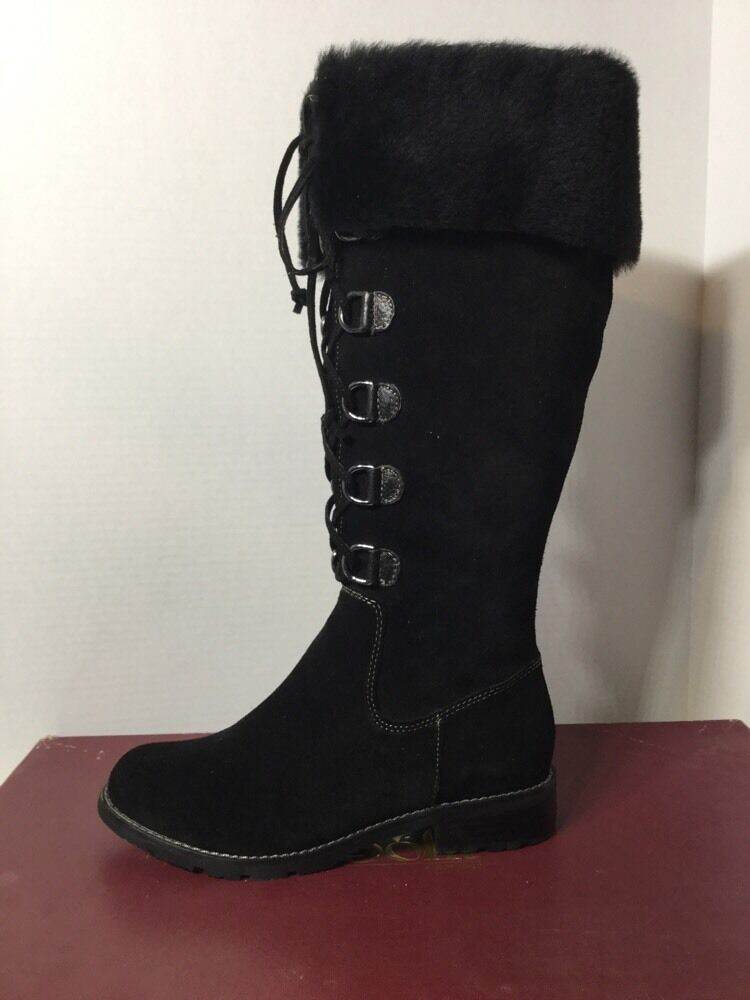 Sofft Barbourne Black Suede Boots Size 6