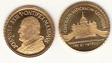 PICCOLA Mini Moneta MEDAGLIA  ricordo PAPA GIOVANNI XXIII  1 cm. PLACCATA ORO