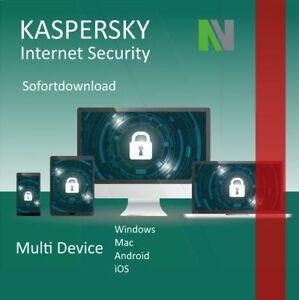 Kaspersky Internet Security MultiDevice 2021 3 PC 1 Jahr TOP!!!