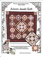 Autumn Jewels Hand Embroidery Quilt Pattern - Mama Quilts - Primrose Lane