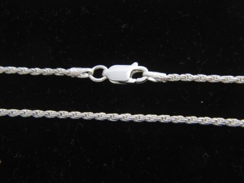 REAL 925 STERLING SILVER Diamond Cut ROPE Chain Necklace SOLID SILVER .925 ITALY