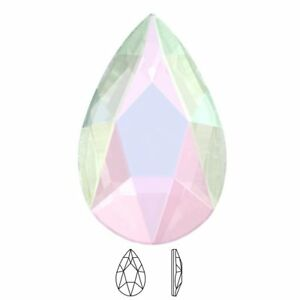 Image is loading Genuine-Swarovski-Pear-Shaped-2303-AB-Crystal-No- ee6d1c0123bc