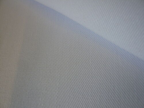 5mts WHITE TWILL FABRIC 150cms WIDE ***NEW OFF THE ROLL***