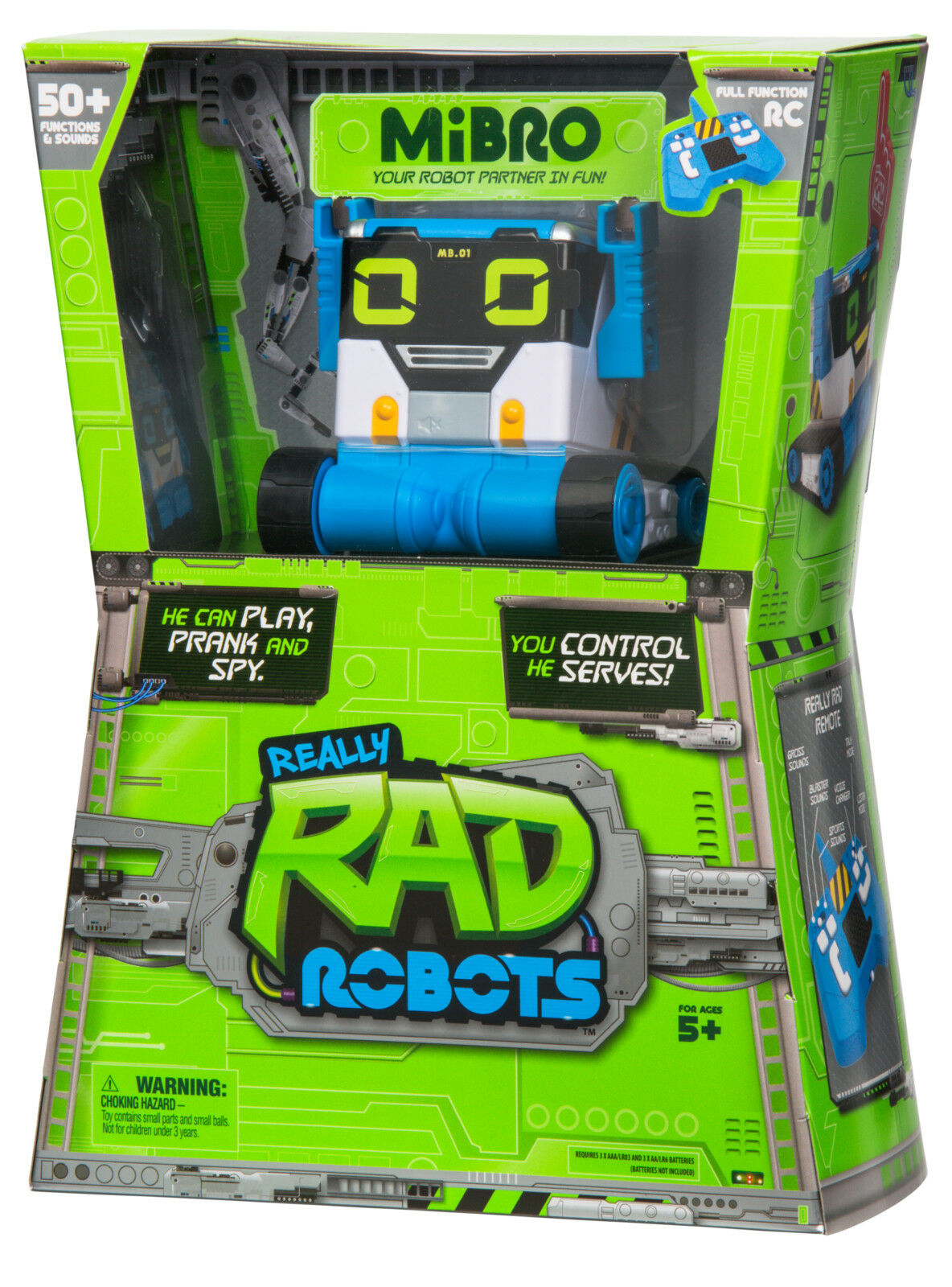 RC Really Rad Robots R/C MiBro Remote Control Robot Christmas Hot List Kids NEW