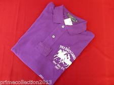 Gen. Polo Ralph Lauren Polo Camisa Clásico Dual Match púrpura Malla Top BNWT Rp £ 110