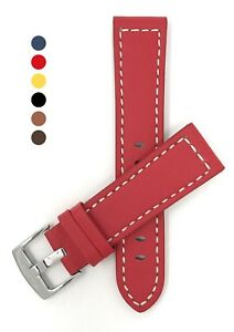 Leather-Watch-Strap-Band-20-28mm-Many-Colors-fits-Fossil-Citizen-amp-More