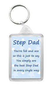 Image Is Loading Step Dad Keyring Keyfob Poem Birthday Fathers Day