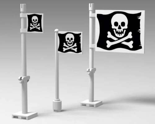 Precut Custom Sticker for Pirates /& Pirates I Jolly Roger Flags